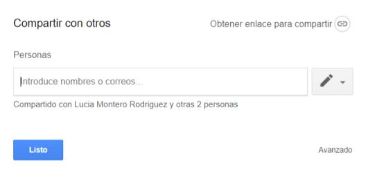 Compartir con otros en Google Drive