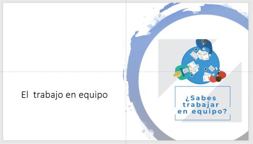 Ejemplo de idea de diseño aplicada en PowerPoint