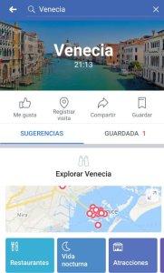Guías de ciudades - Venecia en Facebook