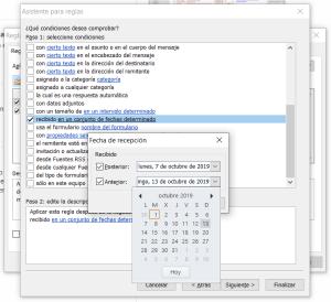 Cómo generar una respuesta automática en Outlook para un determinado rango de fechas