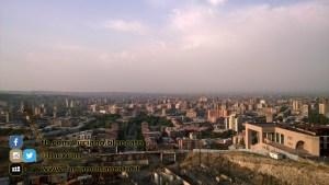 Vista della città di Erevan (ARMENIA)
