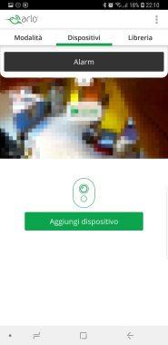 Arlo APP - Android - Schermata home con pulsante per attivare sirena