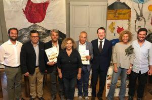 Vinimilo, Presentazione. Al centro il sindaco Cosentino, l'assessore Pappalardo e i produttori partner