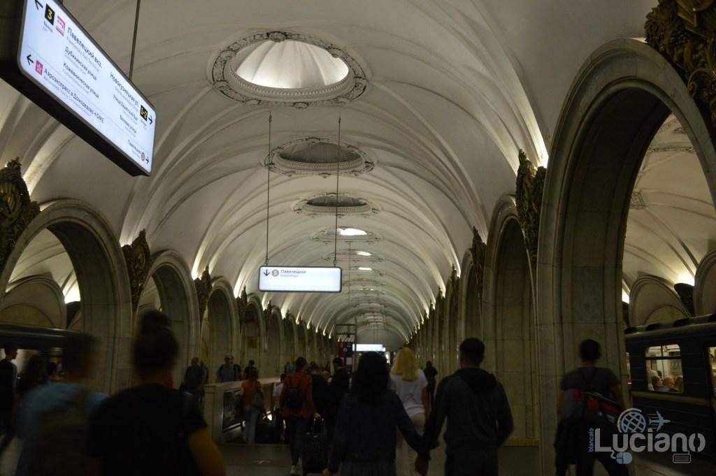 Paveleckaya (in russo: Павелецкая) - Metro 5 - Metro Circolare Mosca - Russia