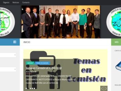 Sitio web institucional del Concejo Deliberante de Bell Ville