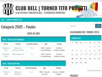 Sitio web 1° Mundialito «Tito» Proietti