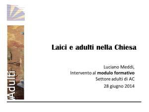 Formare adulti nella chiesa italiana