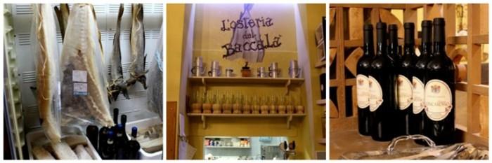 Osteria del Baccalà a Frosinone, altri particolari del locale e alcuni prodotti