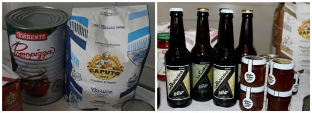 Farina Molino Caputo, pomodori La Torrente, birra Dulac