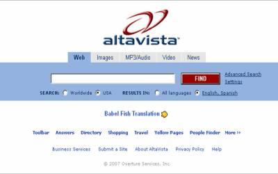 AltaVista: il primo motore di ricerca veloce