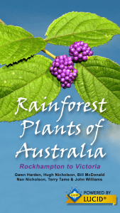 Rainforest Plants of Australia app splash screen