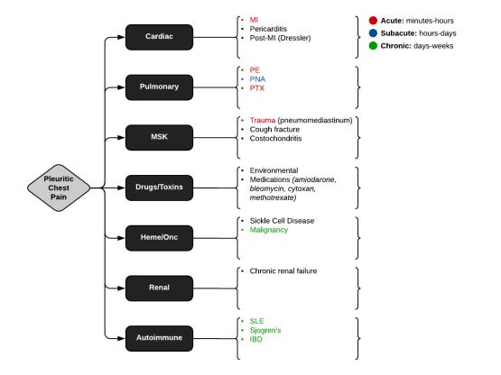 Causes of Pleuritic CP