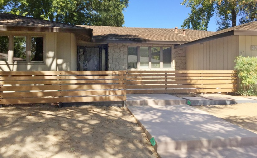 Multiple shades of privacy for a front yard remodel