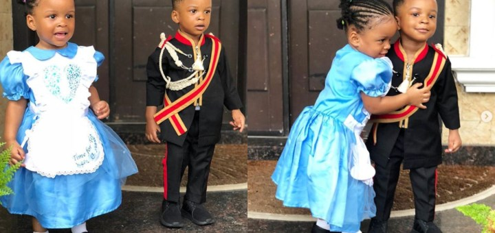 Adorable photos of Paul Okoye's Children in Creative Costumes as they celebrate World Book Day