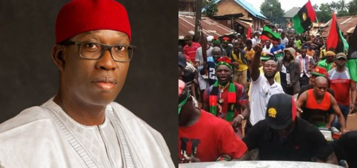 """""""Nigeria will DIVIDE the very day the South-South agrees to join Biafra"""" - Governor Ifeanyi Okowa says"""