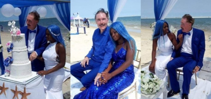 21-year-old lady Marries 65 year old White Man at Oniru Beach (Photos)