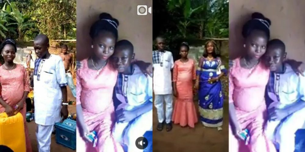 14-year-old Boy forced to marry his older Girlfriend after Impregnating her, Internet Users react (Video)