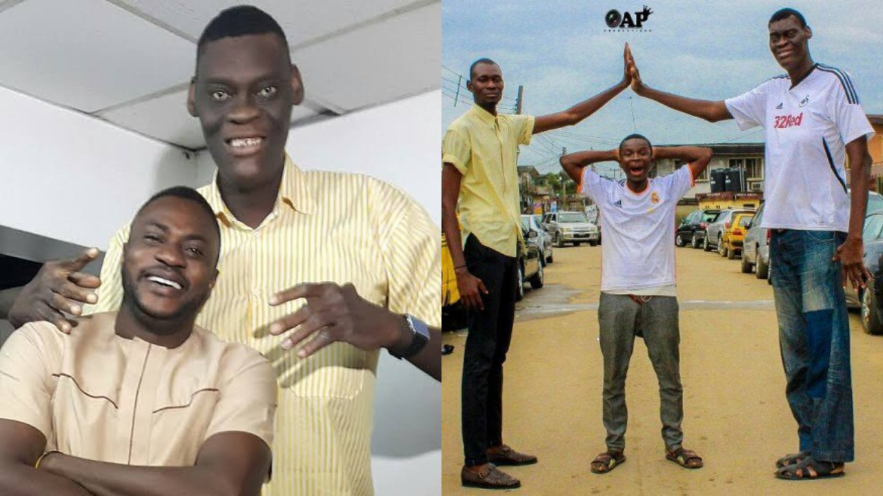 Image result for Nigeria's tallest man, Afeez Agoro reveals his height has hindered him from finding love