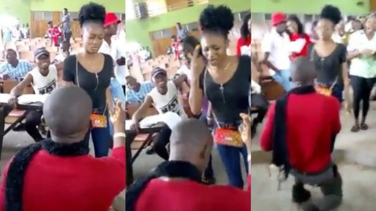 Image result for images of Benue University Student slaps man who proposed to her in lecture hall
