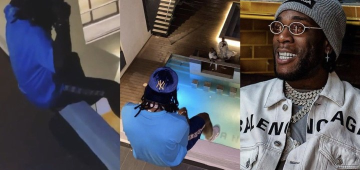 Burna Boy starts the year as he reportedly acquires a new Mansion with 8 Rooms & Swimming Pool in Lekki (Video)