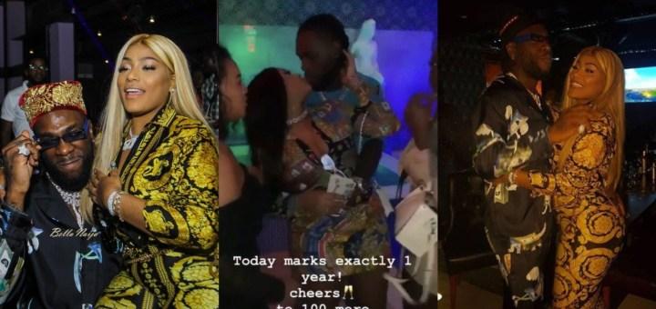 Stefflon Don celebrates one-year Relationship Anniversary with Burna Boy (Photo, Video)