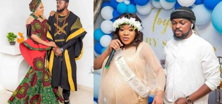 """""""You are the one God used to cover my bareness"""" - Toyin Abraham tells hubby, Kolawole Ajeyemi as he turns a year older"""
