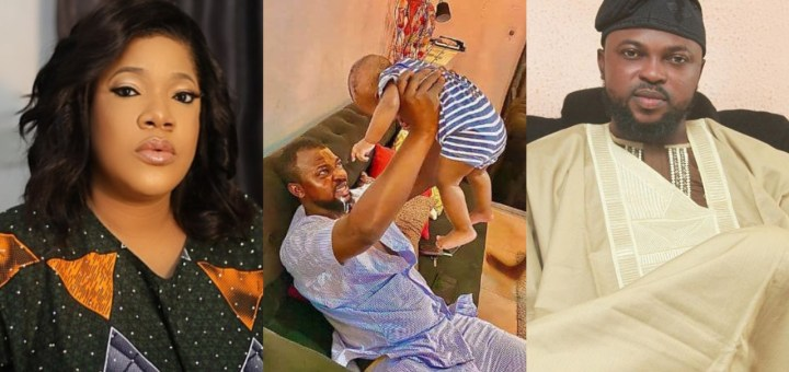 'It feels so special seeing my baby vomit on my husband' - Toyin Abraham tells her fans