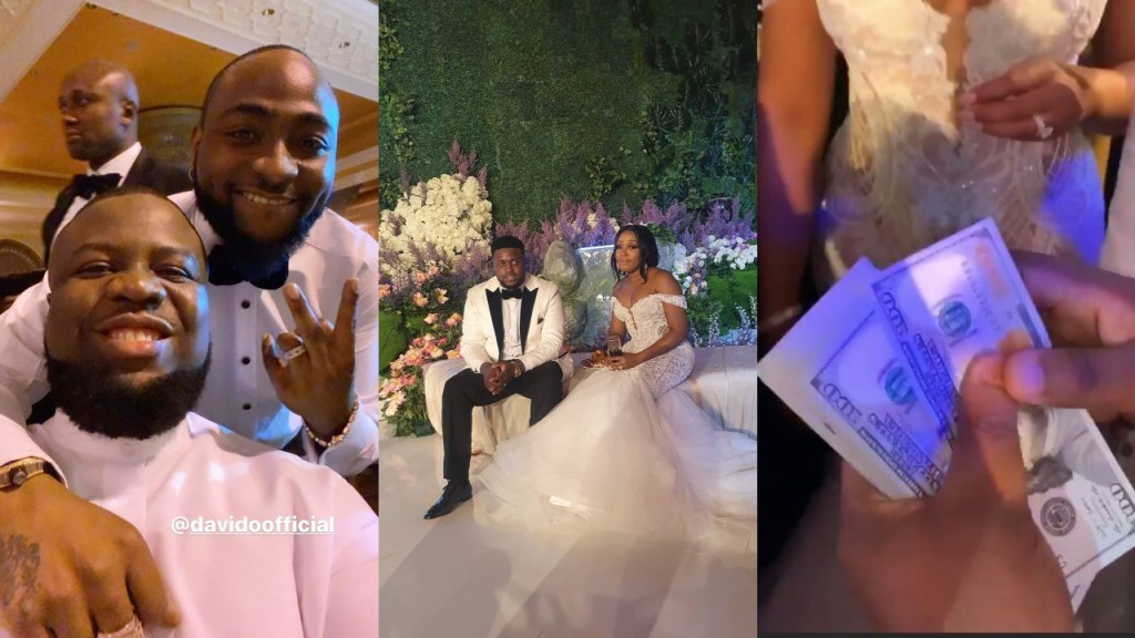 Hushpuppi Sprays Dollars At Adewale Adeleke And Kani's Wedding In Dubai