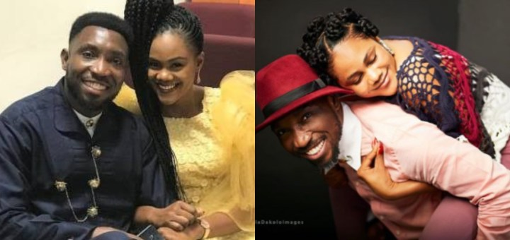 """""""You have shown an unusual display of machismo through your Support, Love & Care"""" - Busola Dakolo tells hubby, Timi, as she wishes him a happy Valentine's day"""