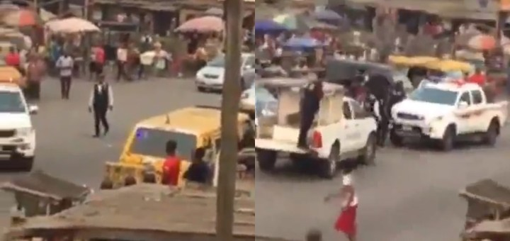 Policemen arrest fellow Officers for collecting Bribe in Lagos (Video)