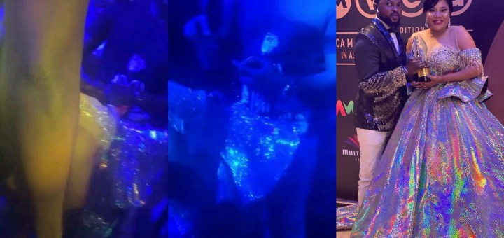 Toyin Abraham gives husband 'Premium lap dance' at the AMVCA After-Party (Video)