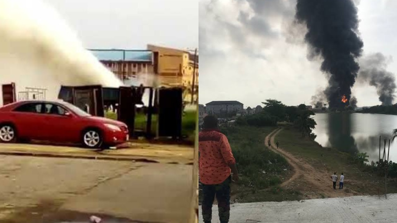 Video which captured gas venting in Abule Ado hours before the Explosion Surfaces