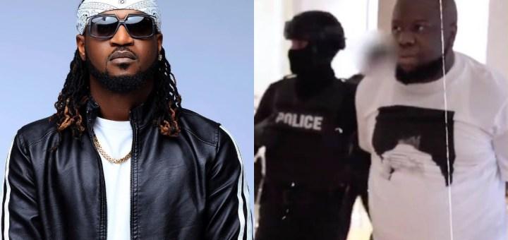 Paul Okoye 'Rude Boy' reacts to viral video of Hushpuppi's arrest
