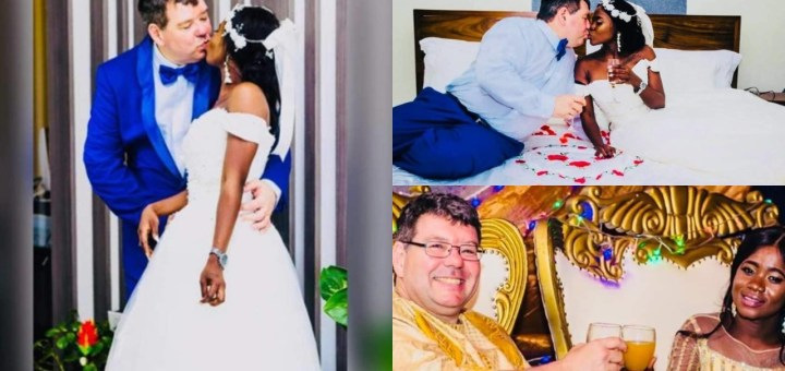 Stunning Wedding Photos of a curvy African lady with her 'white' husband set social media on Fire