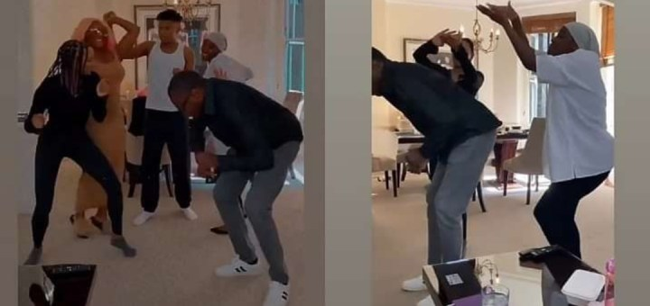 Checkout Billionaire, Femi Otedola dancing with his children in their home (Videos)