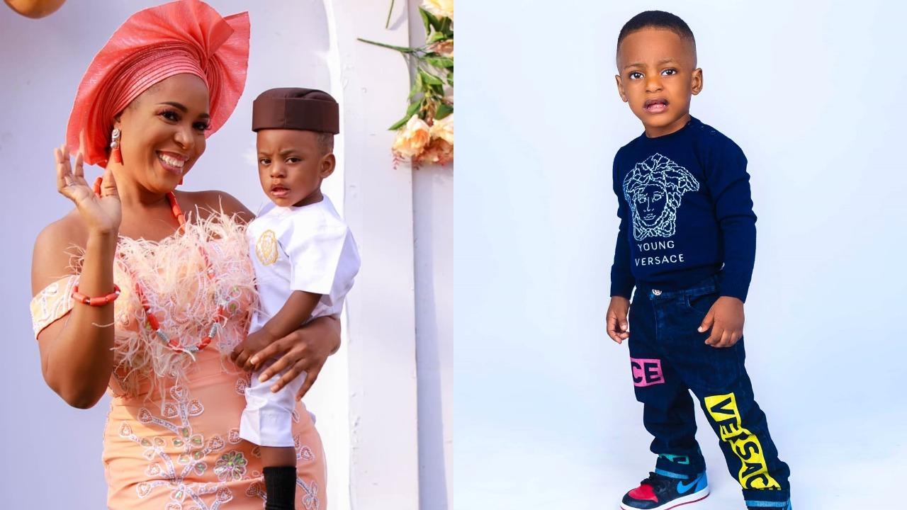 """My life's biggest price"" - Linda Ikeji says as she celebrates her son's 2nd Birthday"