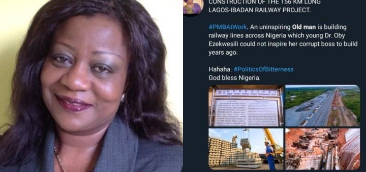"Tweet of Lauretta Onochie calling President Buhari ""old man"" emerges online"