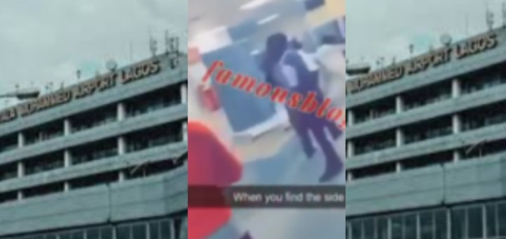Side Chick And Wife Fight At Airport As They Welcome Husband From U.S.A (Video)
