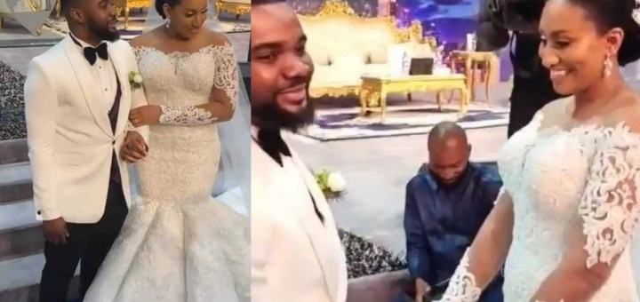 First photos & videos from Actor Williams Uchemba's church wedding (Video)