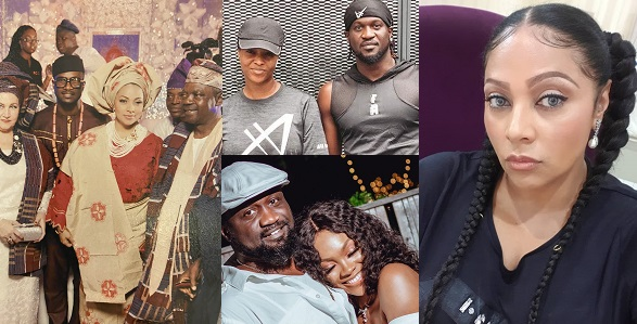 Jude and Paul Okoye's wives ignores family feud, commiserates with Lola Omotayo over her father's death