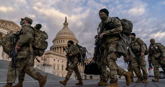 Two national guard members who made extremist statements about Biden inauguration removed with 10 others following findings during FBI screenings