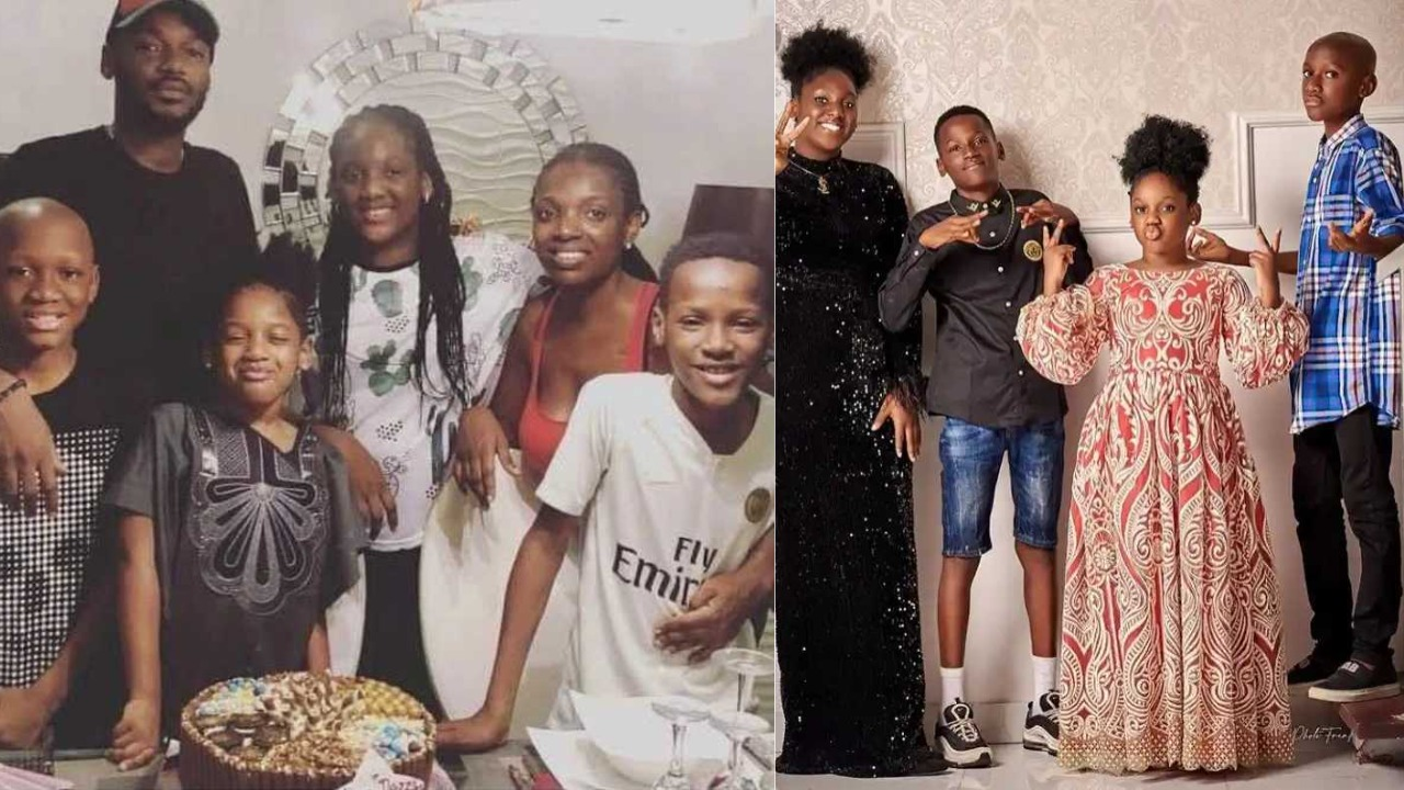 """""""Wetin concern 2baba with DNA test"""" -Fans point out the resemblance between 2baba & his children"""