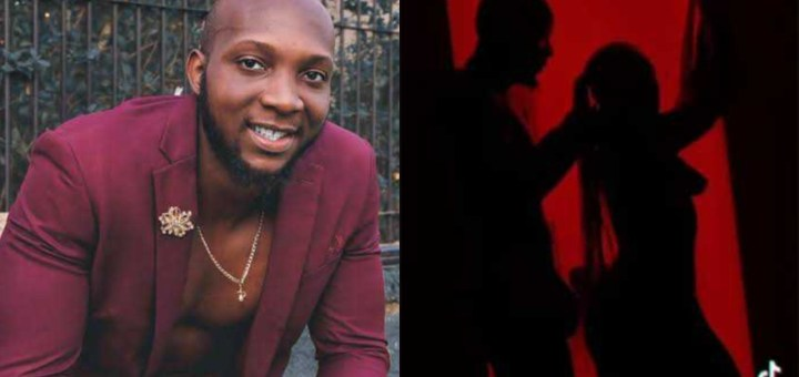 BBNaija's Tuoyo shows off his manh00d as he joins the Silhouette challenge (Video)