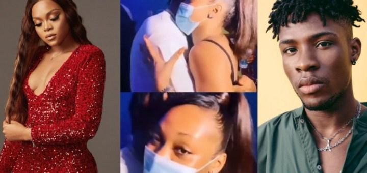 """She too like man body"" - Trolls drag BBNaija's Lilo for passionately hugging Joeboy at his album listening party (Video)"