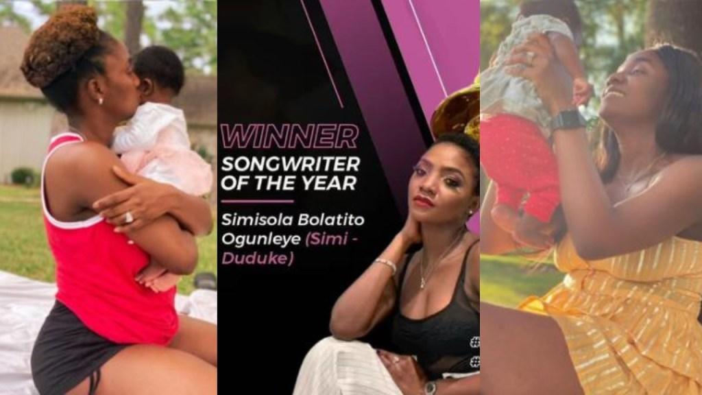 """Thank you for inspiring me"" - Simi dedicates Headies Award to her daughter Deja"