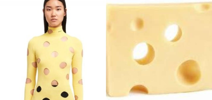 Reactions after Prada releases £905 yellow turtlenecks with holes that makes it look like Swiss cheese (Photos)