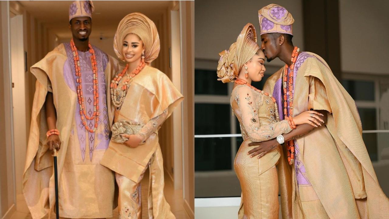 Actress Yetunde Barnabas & Footballer Peter Olayinka hold their wedding introduction