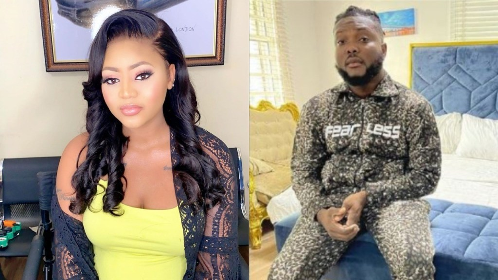 After buying kayanmata products worth N5 million Regina Daniels spotted at a shopping mall with record label boss Dr Dolor