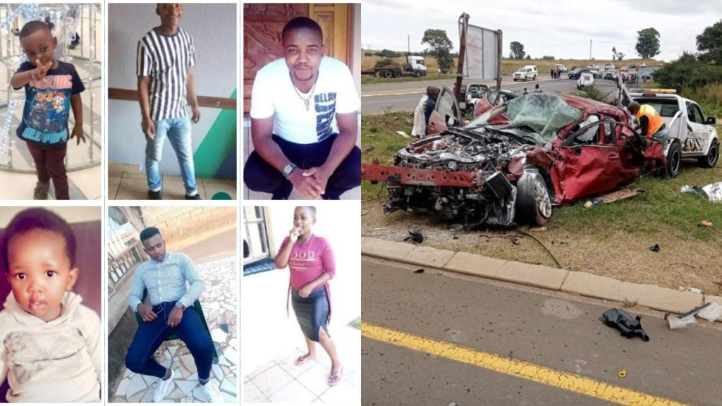Six members of a family including two children killed in tragic crash in South Africa