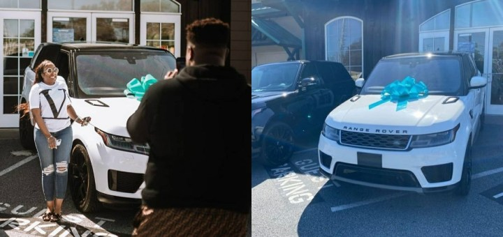 Davido's brother Adewale gifts his wife Kani a Range Rover (Photos/Video)
